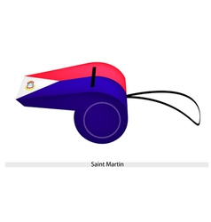 A beautiful whistle of saint martin flag vector