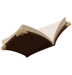 Open magic old book vector