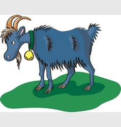 Blue goat vector