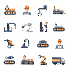Production line icons vector