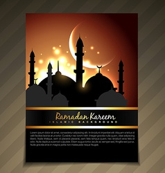 Ramdan kareem template design vector