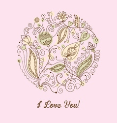 Valentine card template vector