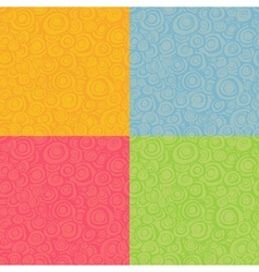 Seamless loop spiral patterns in multiple color vector