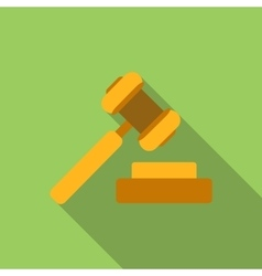 Hammer of justice flat icon vector