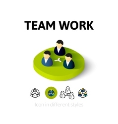 Team work icon in different style vector