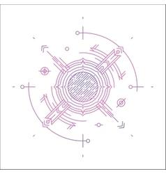 Colorful line geometric futuristic graphic design vector