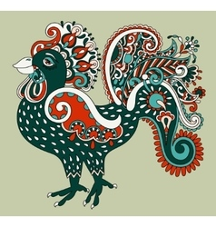 Original retro cartoon chicken drawing symbol of vector