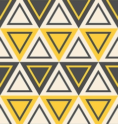 Abstract geometric pattern yellow triangles vector image vector image