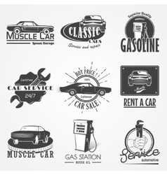 Auto service set Rent a Car Garage auto vector image