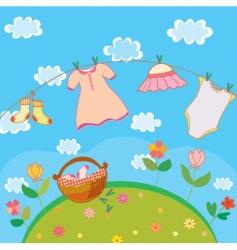 babyclothesgirl vector image