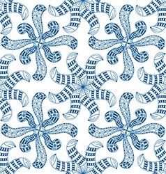 Blue floral pattern background vector