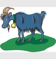 Blue goat vector