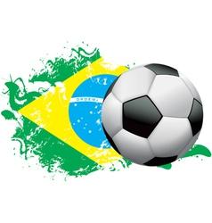 Brazil Soccer Grunge vector image vector image