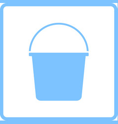 bucket icon vector image vector image