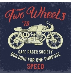 Cafe Racer print design vector image vector image
