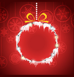 Christmas greeting card with christmas bauble vector