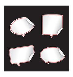 Collection of blank speech tag bubble vector