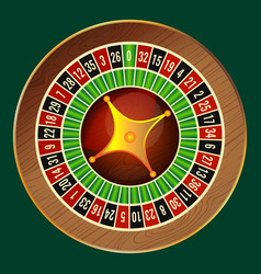Colorful wheel of luck or fortune on green vector