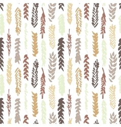 Cute decorative seamless pattern with cereals vector