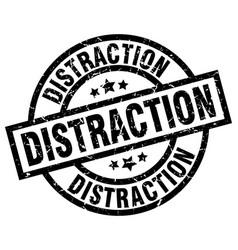 Distraction round grunge black stamp vector