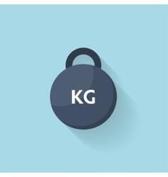 Flat web icon steel weight dumbbel vector