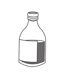 Glass bottle icon vector