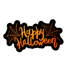 happy halloween message design background vector image