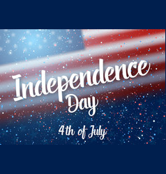 Independence day of usa poster vector