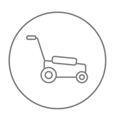 Lawnmover line icon vector image vector image