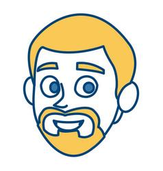 Man smiling cartoon vector