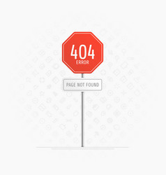 Page with a 404 error vector
