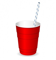 plastic party cup vector image vector image