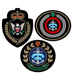 royal military badge vector image vector image