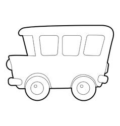 School bus icon isometric 3d style vector
