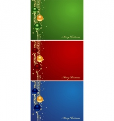 Set christmas backgrounds vector