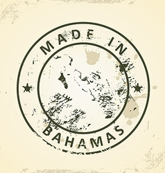 Stamp with map of Bahamas vector image vector image