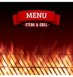 Steak and grill house menu background vector image