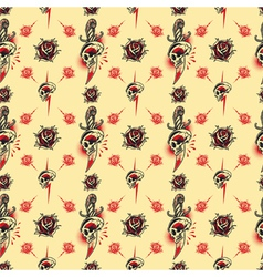 Tattoo seamless Pattern vector image