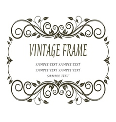 Vintage frame with curlicues and swirls vector image vector image