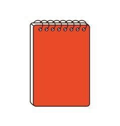 Notebook class school instrument icon vector