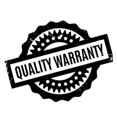 Quality warranty rubber stamp vector