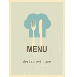 Retro menu cover vector image