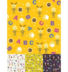 Girl boy and ABC vector image