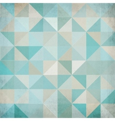 Vintage blue triangular background vector