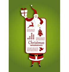 Christmas and santa infographic vector