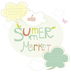 Summer market banner design vector