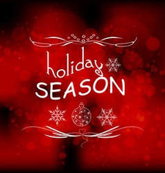 Holiday season light background vector