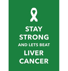Liver cancer poster vector