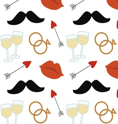 Wedding celebration seamless pattern vector