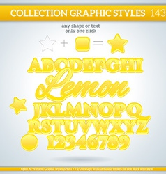 Lemon graphic style for design vector